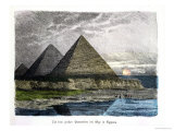 "The Pyramids of Giza, from a Series of the ""Seven Wonders of the World"" Giclee Print by Ferdinand Knab"