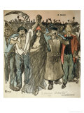 "La Carmagnole,"" Patriotic Song of the French Revolution, from ""Le Chambard Socialiste,"" 1894 Giclee Print by Théophile Alexandre Steinlen"