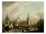 George's Dock Basin, Liverpool, 1797 Giclee Print by John Thomas Serres