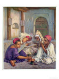 Writing Lesson in a Koranic School in an Algerian Village, 1918 Giclee Print by Etienne Alphonse Dinet