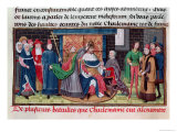 The Coronation of Emperor Charlemagne by Pope St. Leo III on Christmas Eve 800 AD Giclee Print