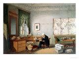 Baron Alexander Von Humboldt in His Study Giclee Print by Eduard Hildebrandt