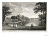 View of the Lake from the Centre Walk in the Garden at West Wycombe, Buckinghamshire Giclee Print by William Hannan
