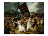 The Burial of the Sardine circa 1812-19 (Detail) Giclee Print by Francisco de Goya