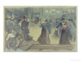 Ball in a Paris Suburb, circa 1892 Giclee Print by Th&#233;ophile Alexandre Steinlen