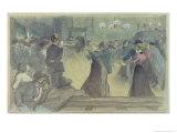 Ball in a Paris Suburb, circa 1892 Giclee Print by Théophile Alexandre Steinlen