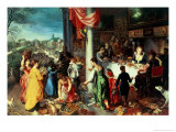 The Winter Feast, Gathering at the Bavarian State Palace Giclée-Druck von Hendrik van Balen the Elder