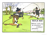 "Rule XIII: Worm Casts May be Removed...Without Penalty..., from ""Rules of Golf,"" Published c. 1905 Giclee Print by Charles Crombie"