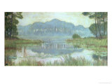 Landscape with Overgrown Pond, circa 1900 Giclee Print by Jean Francis Auburtin