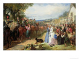 The Girls We Left Behind Us, the Departure of the 11th Hussars for India Giclee Print by Thomas Jones Barker