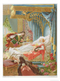 Sleeping Beauty and Prince Charming Reproduction procédé giclée par Frédéric Théodore Lix