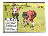 "Rule XVI: When Ye Balls Lie Within Six Inches of Each Other..., from ""Rules of Golf"" Giclee Print by Charles Crombie"