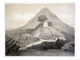 "Picturesque View at the Temple of the Cross, Palenque, Plate 20 from ""Ancient Monuments of Mexico"" Giclee Print by Johann Friedrich Maximilian Von Waldeck"
