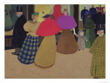 Street Scene Gicl&#233;e-Druck von F&#233;lix Vallotton