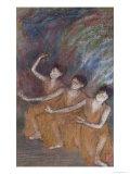 Trois Danseuses Giclee Print by Edgar Degas