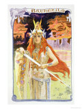 "Brunnhilde, from ""L'Estampe Moderne,"" Published Paris 1897-99 Giclee Print by Gaston Bussiere"