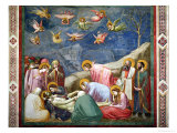 The Lamentation of the Dead Christ, circa 1305 Giclee Print by  Giotto di Bondone