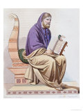 "Portrait of St. Gregory of Tours (538-594) Illustration from ""Le Plutarque Francais"" Giclee Print by Louis Boulanger"