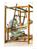 "Blindman Using a Loom, Plate 17 from ""Essai Sur L'Instruction Des Aveugles"" Giclee Print by Julie Ribault"