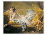 Reclining Nude (Miss O'Murphy) Giclée-tryk af Francois Boucher