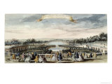 View of the Orangerie and the Grand Canal at Versailles Giclee Print by Jacques Rigaud