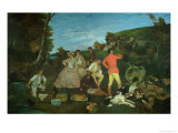 The Huntsman's Picnic Giclee Print by Gustave Courbet