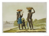 """A Slave Family of the Loango Tribe, Surinam, from """"Le Costume Ancien Et Moderne"""" Giclee Print by G. Bramati"""