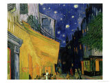 The Café Terrace on the Place du Forum, Arles, at Night, c.1888 (detail) Premium Giclee Print by Vincent van Gogh