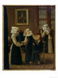 Nuns Dressing a Sick Man Giclee Print by Antoine Jean Bail