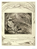 Then the Lord Answered Job out of the Whirlwind, Published 1825 Giclee Print by William Blake