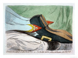 Fashionable Contrasts, or the Duchess's Little Shoe Yielding to the Magnitude of the Duke Premium Giclee Print by James Gillray