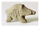 Figurine of a Small Boar, from Tappeh Sarab, Iran, circa 6th Millennium BC Giclee Print by  Prehistoric