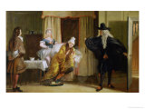 "Scene from ""Le Malade Imaginaire"" by Moliere Giclee Print by Charles Robert Leslie"