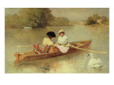 Boating on the Seine, 1875-76 Giclee Print by Ferdinand Heilbuth
