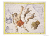 "Constellation of Bootes, Plate 20 from ""Atlas Coelestis,"" by John Flamsteed, Published in 1729 Giclee Print by Sir James Thornhill"
