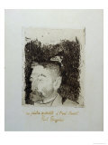 Au Poete Synthetiste, Portrait of Stephame Mallarme Giclee Print by Paul Gauguin