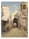 A Street in Jerusalem Giclee Print by Percy Robert Craft