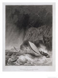 The Boats off Walden Island in a Snow Storm, August 12th 1827 Giclee Print by Captain George Francis Lyon