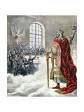 "St. Charlemagne, Patron Saint of School Children, from ""Le Petit Journal Illustre,"" 1892 Giclee Print"