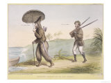 Robinson Crusoe and His Man Friday, Published June 3rd 1840 Giclee Print by John Doyle