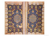 Illuminated Pages of a Koran Manuscript, Il-Khanid Mameluke School Giclee Print