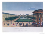 View of the Gardens of the Palais Royal, as Seen from the Rotunda Giclee Print by Henri Courvoisier-Voisin