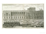 Building of the Main Entrance of the Louvre, Paris Giclee Print by Jacques Sébastien Le Clerc