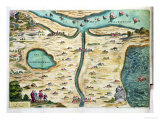 The &quot;Carte De Tendre,&quot; a Map of an Imaginary Country Giclee Print