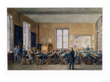 Classroom at the Institution Caillet, Rue De La Cite, Paris, 1845 Giclee Print by G. Remy