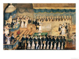 Masonic Initiation Ceremony of a Lady Freemason, Early 19th Century Giclee Print