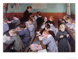 The Children's Class, 1889 Giclee Print by Jules Jean Geoffroy