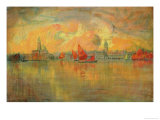 View of Venice from the Sea, 1896 Giclee Print by Charles Cottet