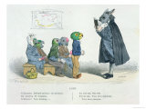"""Conjugate the Present Indicative, I Am Bored…"" Premium Giclee Print by  Grandville"
