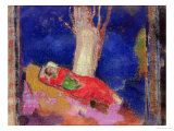Woman Sleeping under a Tree, 1900-01 Premium Giclee Print by Odilon Redon